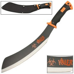 Necromancer Zombie Killer Apocalypse Parang Chopping Rugged Machete Knife