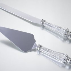 Lillian Rose-Crown Knife And Server Set