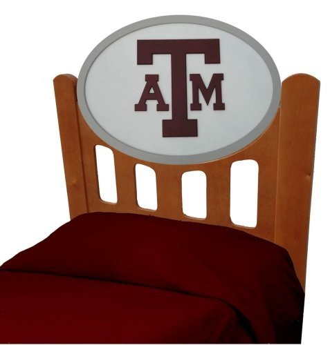 Image of Texas A&M Aggies Kids Wooden Twin Headboard With Logo (C0526S-Texas A&M)