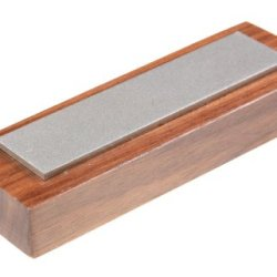 Eze-Lap 32F 1 By 4 Fine Diamond Stone On A Walnut Pedestal