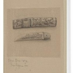 Canvas Print Of Knife Or Short Sword With Sheaf