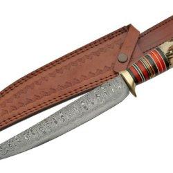 Szco Supplies Damascus Long Hunter Knife