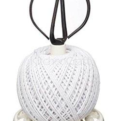 Kitchen Craft Cast Iron String Reel With Scissors - Cream
