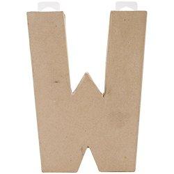 "Paper Mache Letter 8""X5-1/2""-Letter W"