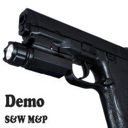 Lumentactical 250 Lumen Quick Release Pistol Led Flashlight /W Strobe For Smith Wesson, Springfield, Taurus, Ruger, Hk, Fn, Beretta, Bersa, Sig Sauer, Glock