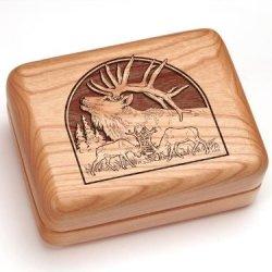 "3X4"" Box With Money Clip/Pocket Knife - Elk"