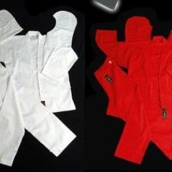 Playwell Martial Arts Ninja Red Uniform - 5/180Cm