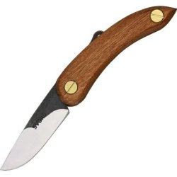 Svord Peasant Mini Hardwood Fold Knife, Swedish High Carbon Tool Steel Blade, Hardwood Handle Pkm