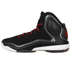 Adidas Men'S D Rose 5 Boost, Black/Red/Ltonix, 7.5 M Us