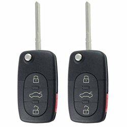 2 Keylessoption Replacement 4 Button Flip Key Keyless Entry Remote Control Fob