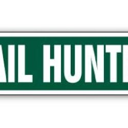 Quail Hunter Street Sign Hunting Hunt Bird Gun Knife
