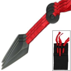 Anime Velocity Kunai Throwing Knives Red