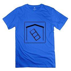 Man Home T-Shirt - Vintage Custom Royalblue T Shirt