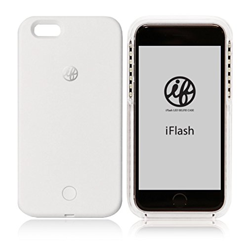 iFlash LED Selfie Case for iPhone 6 / 6S LEDライト付き自撮りフラッシュケース ホワイト