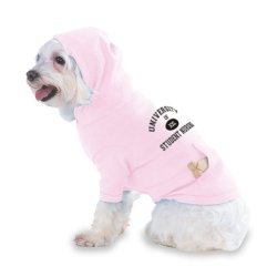 University Of Xxl Student Nursing Hooded (Hoody) T-Shirt With Pocket For Your Dog Or Cat Size Small Lt Pink