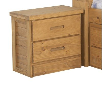 Image of American Woodcrafters 2000-410 Kid's Scene Nightstand in Deep Rustic (2000-410)