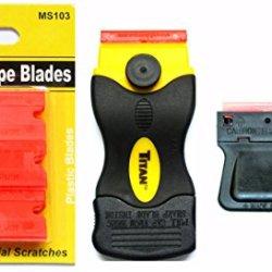 25 Plastic Double Edged Razor Blades With Titan Scraper & Mini Scraper Combo