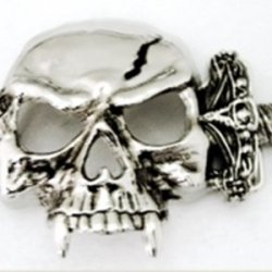 Skull Dagger Vampir Punk Goth Men Women Silver Finishing Belt Buckle.
