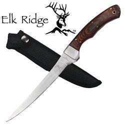 "Er-028 Elk Ridge 2Kkoozletp Er-028 Iulqtg Fillet Knife 12.25"" Overall Ayeuiu56 Hlbv23Rt Fillet Knife12.25"" Overall440 Stainless Steel Bladewood Nidkrrn Handleincludes Hv3Zg Nylon Sheath"