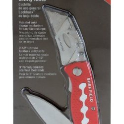 Sheffield 58129 Twin Blade Lockback Utility Knife