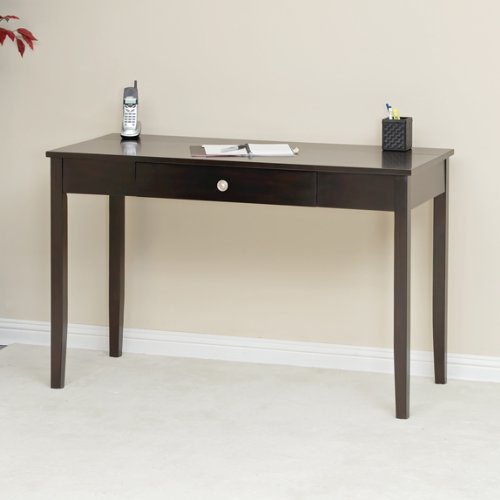 Picture of Comfortable Black Apricot Finish Computer Desk (B004G541V4) (Computer Desks)