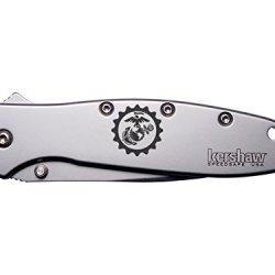 Gear Marines Anchor Usmc Engraved Kershaw Leek 1660 Ken Onion Design Folding Speedsafe Pocket Knife By Ndz Performance