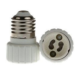 E26/E27 To Gu10 Converter, E26/E27 Edison Screw To Gu10 Bayonet Base Socket Adapter Converter