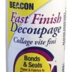 Beacon Adhesives Fast Finish Decoupage Sealer, 8-Ounce