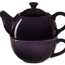 Le Creuset Stoneware Tea Cup For 1, Cassis