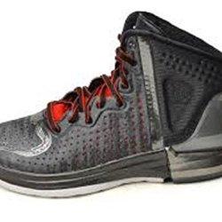 Adidas D Rose 4 J (Kids) - Black/Legit Scarlet Red-Running White, 5 M Us