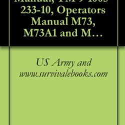 Us Army Technical Manual, Tm 9-1005-233-10, Operator'S Manual M73, M73A1 And M219 Machine Guns, 1974