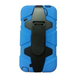 Meaci® Iphone 5C 3 In 1 Blue Defender Body Armor With Tpu Clip Against Shocks Hard Case