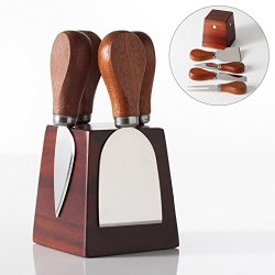 Torre & Tagus Grove Square Block Magnetic 4Pc Cheese Knife Set