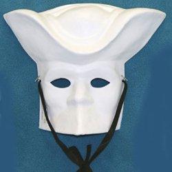 B90614 Paper Mache Mardi Gras Musketeer Mask