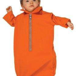 Rubie'S Costume Tyke Or Treat Baby Bunting Costume Jailbird, Jailbird Print, 0-9 Months