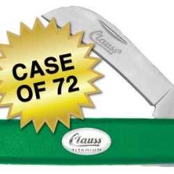 """Clauss Recycled Enviroline Titanium Bonded Folding Knife With Hawkbill Blade, 8"""", Green, Case Of 72"""