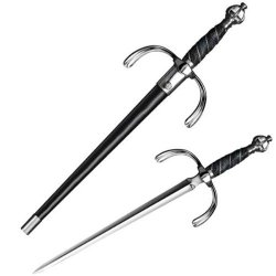 Cold Steel Companion Dagger To Ribbed Shell Rapier, Leather Scabbard