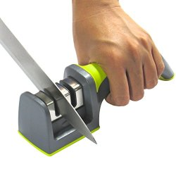 Kitchen Knife Sharpener - 2 Stage Sharpening System - 100% Unconditional Guarantee