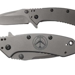 B52 Peace Th Old Fashion Way Engraved Kershaw Cryo 1555Ti Folding Speedsafe Pocket Knife By Ndz Performance