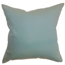 The Pillow Collection Resolute Plain Pillow, Aquamarine