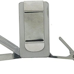 Pocket Knife - 3 Blades, Money Clip, Stainless Steel, 2X1In.