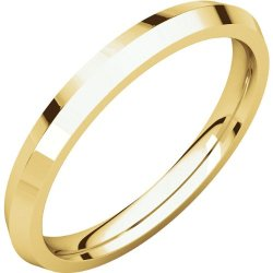 14K Yellow Gold 2.5Mm Knife Edge Comfort Fit Band