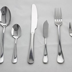 Anfimu 24-Piece Stainless Steel Flatware Set - Forks Knives Spoons Silver Silverware Cutlery Dinnerware Tableware Set,Service For 4