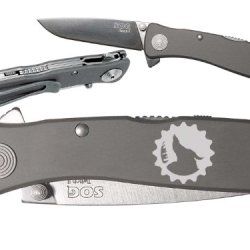 Gear Lone Wolf Moon Logo Custom Engraved Sog Twitch Ii Twi-8 Assisted Folding Pocket Knife By Ndz Performance