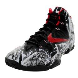 Nike Mens Lebron Xi White/University Red-Black 616175-100 10