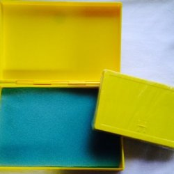 Best Match 2 Sizes Of Plastic Storage Boxes Yellow-Yellow, Empty Box For Diy Storage