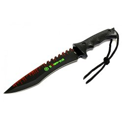 """New 13"""" Zombie-War Stainless Steel Hunting Knife With Black Handle 8263"""