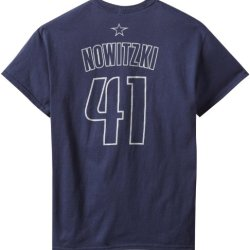 Nba Dallas Mavericks Dirk Nowitzki Men'S Latin Night Name And Number Tee, Navy, Small