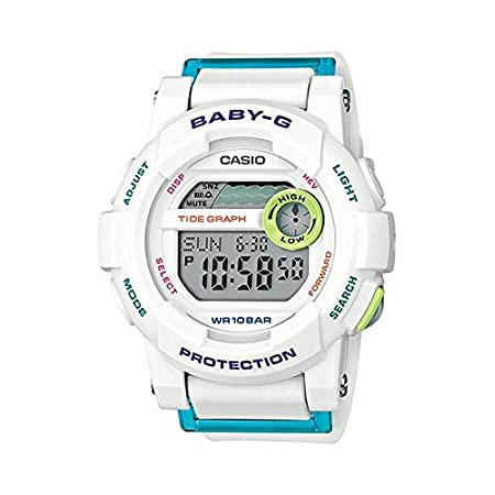 Casio - Baby-G - Urban Glide Series - White - BGD180FB-7 - From the Baby-G G-Lide: a collection of new models designs for surfing and just about anything else you decide to do. Both the analogue BGA180 and the digital BGD180 feature a multi-dimension...