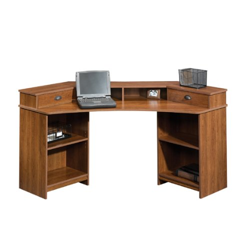Picture of Comfortable Sauder Whistler Corner Computer Desk (Shaker Cherry) [Office Product] (B003TLFH6E) (Computer Desks)